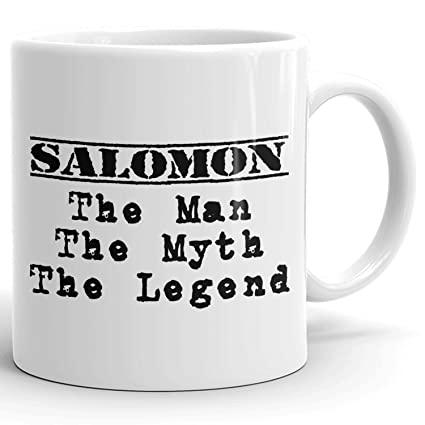 5066ce9b62f2 Best Personalized Mens Gift! Salomon The Man the Myth the Legend - Coffee  Mug Cup