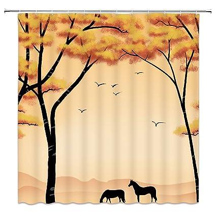 Amazon Feierman Simple Desert Wild Horse Painting Shower