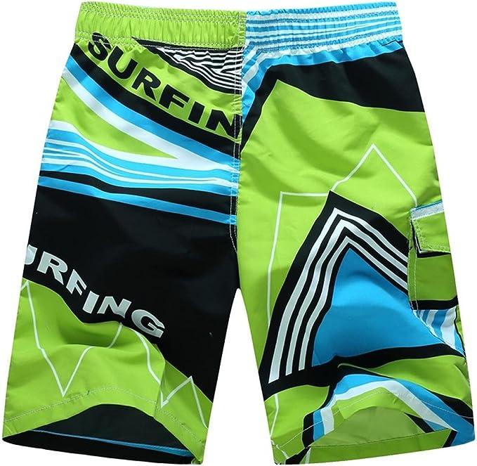 Elogoog Swim Trunks Mens Quick Dry Swimming Trunks Printing Surfing Beach Casual Swim Shorts Swimsuit Plus Size M-6XL