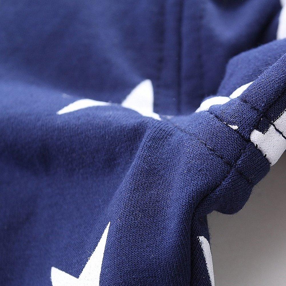 LittleSring Little Boys//Girls Star Overall Cotton Pants Gray Size 4T
