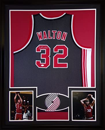 2603449fe Image Unavailable. Image not available for. Color  Bill Walton Portland  Trailblazers Autograph Signed Custom Framed Jersey JSA Witnessed Certified