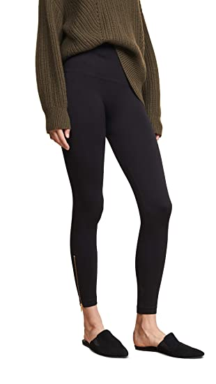 9bc0205e8d02e4 SPANX Women's Look at Me Now Seamless Side Zip Leggings Very Black Medium  23: Amazon.co.uk: Clothing