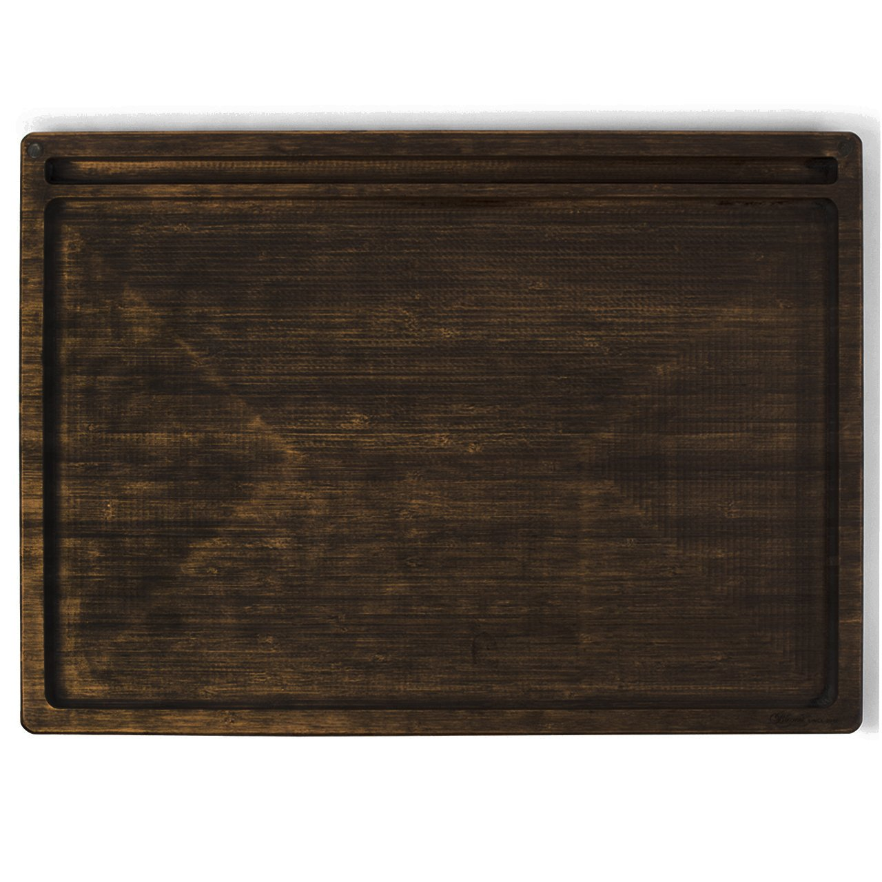 Beamer Goliath All-Natural Bamboo Rolling Tray - Dark Finish - 21 X 15 inch by Beamer