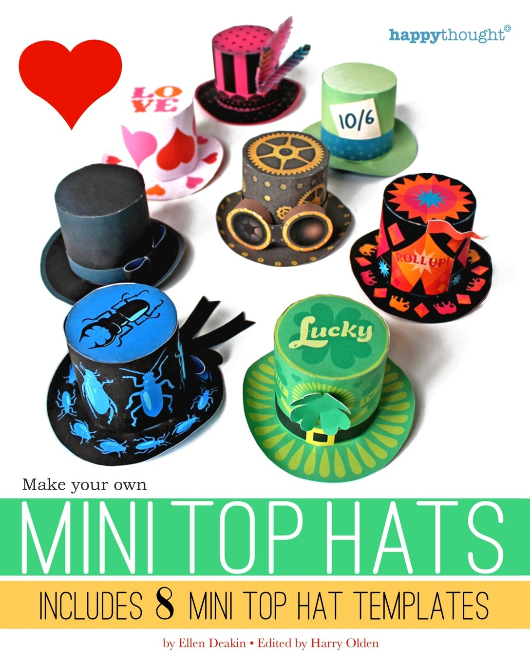 make your own mini top hats plus 8 mini top hat templates