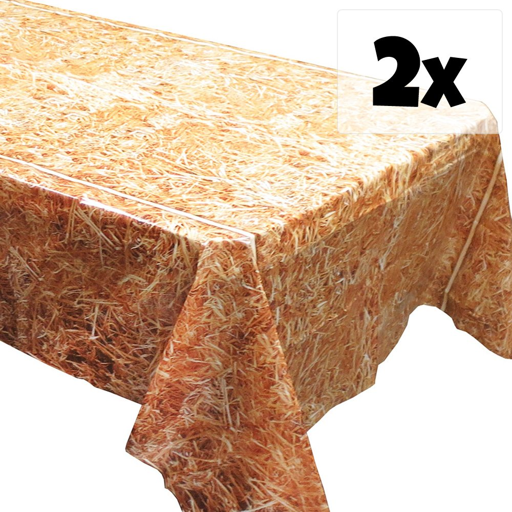 Blue Orchards Straw Tablecovers (2), Western Birthdays, Cowboy Party Supplies, Horse Party Decorations