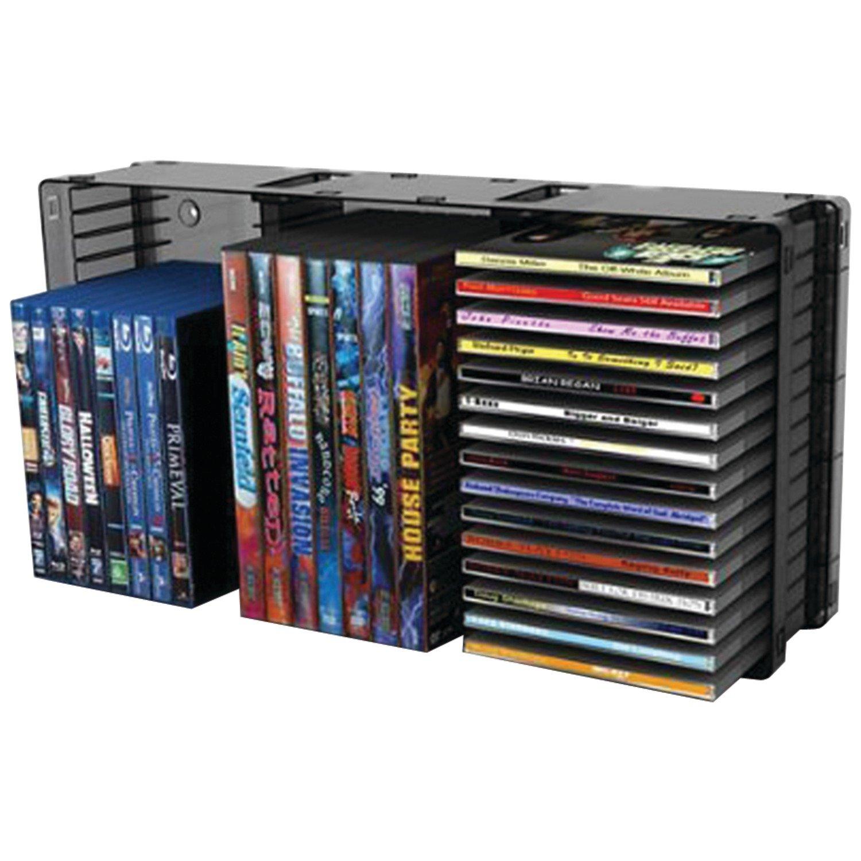 Atlantic 36635731 Domino Disc Storage Module 45 CD/21 DVD, Black by Atlantic