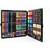 文房具セット 色鉛筆 クレヨン カラーペンセット 超大型258本アートセット お絵かきセット 美術 持ち歩き こども用 プレゼント 内祝い ギフト