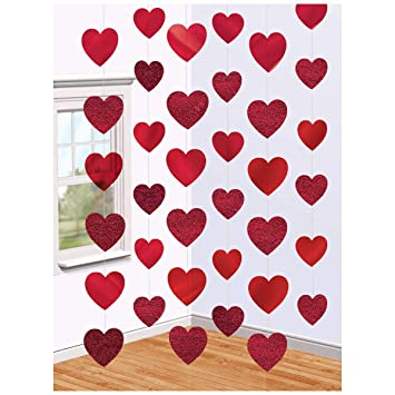 Amazon Com Amscan Blushing Valentine S Day Candy Heart String Party