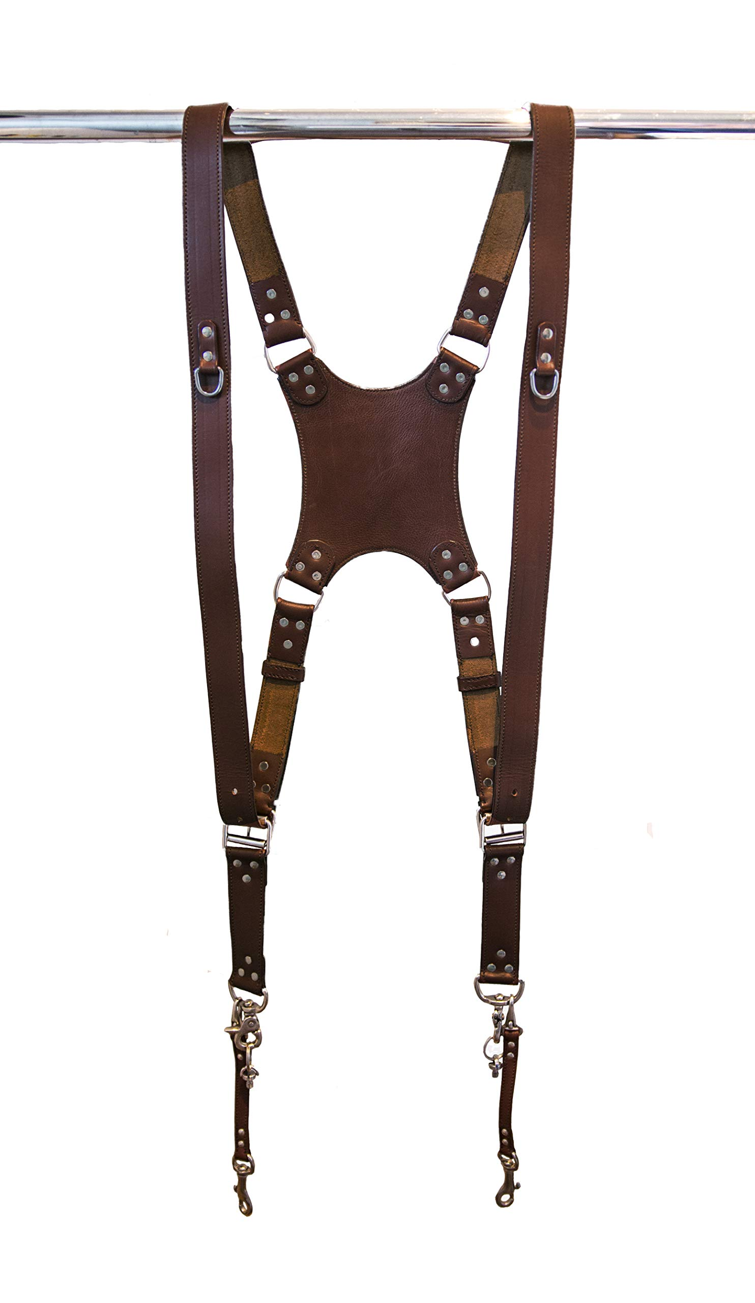 Dual Leather Camera Harness - Camera Strap Accessories for Two-Cameras - Camera Gear for DSLR/SLR by Trendy Camera Crew