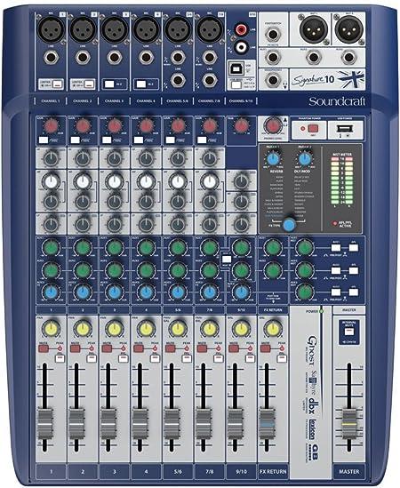 Soundcraft Mesa de mezcla analogica 10 canales con efectos, BPSCA SIGNATURE 10 - DP34442