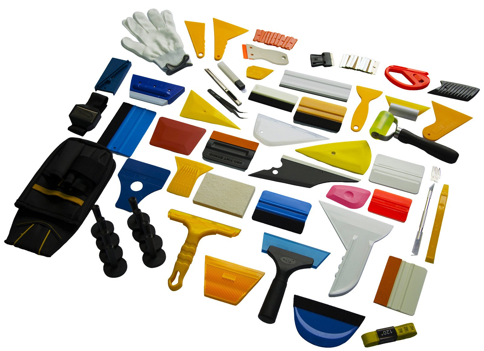 Ehids Professional Window Film Vinyl Wrap Kit Including All Tools Full Complete Squeegees, Scrapers, Cutters, Holders, Tool Pouch by Ehdis (Image #4)