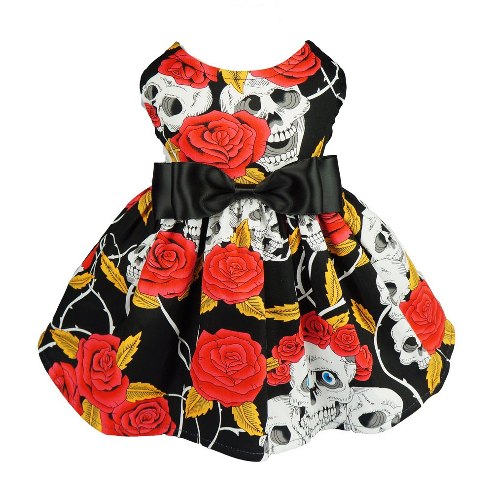 Fitwarm Skull Pet Clothes for Dog Dresses Cat Vest Shirts Red XS