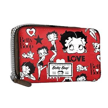f389abf2a Betty Boop Rouge - Billetero De Mujer con Mango de Muñeca - con Cierre De  Cremallera y Botón Metálico - Color Rojo: Amazon.es: Equipaje