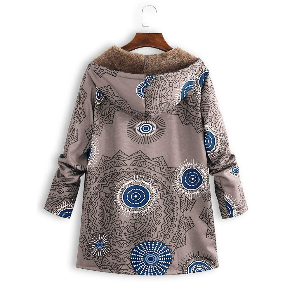 Amazon.com: Winter Sale-Womens Winter Warm Outwear Vintage Ethnic Wind Print Oversize Hooded Coats: Office Products
