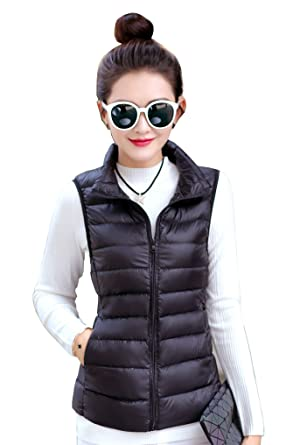5daa7250b9f47 Image Unavailable. Image not available for. Color  Jackcsale Women s  Packable Ultra Light Down Jacket Coat Puffer Vest