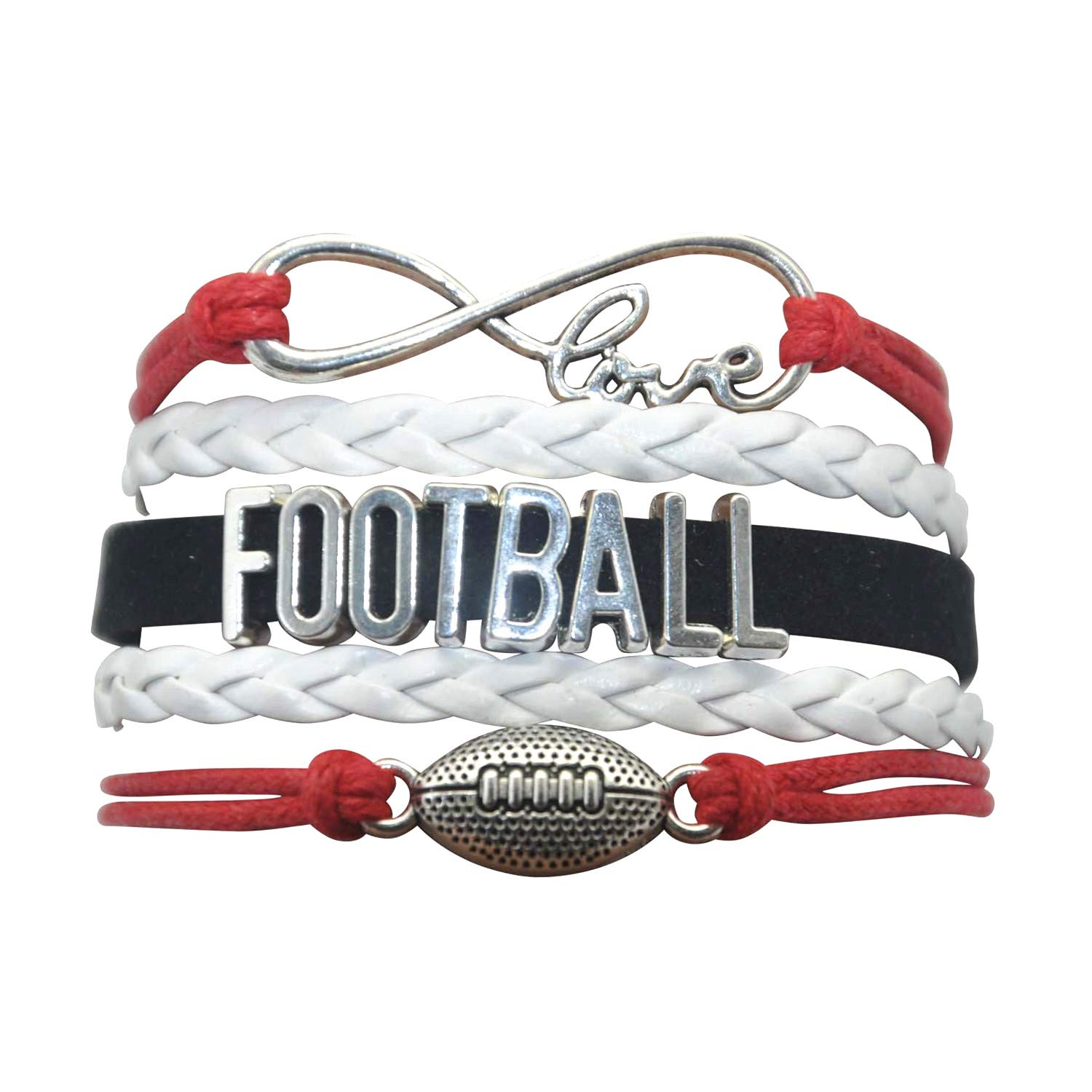 Football Lovers Football Gifts Football Charm Bracelet Youth Football Bracelets for Women,Men,Girls,Boys HHHbeauty Football Bracelet Jewelry Football Team Football Themed Gifts