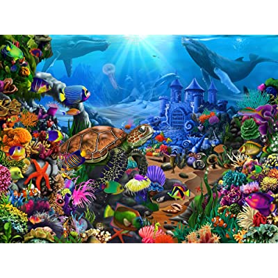 Magical Undersea Turtle Jigsaw Puzzle 550 Piece: Toys & Games