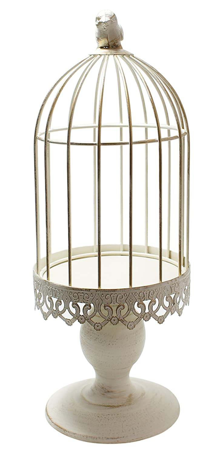 Amazon Com Classic Candle Stand Large White Bird Cage Home Kitchen
