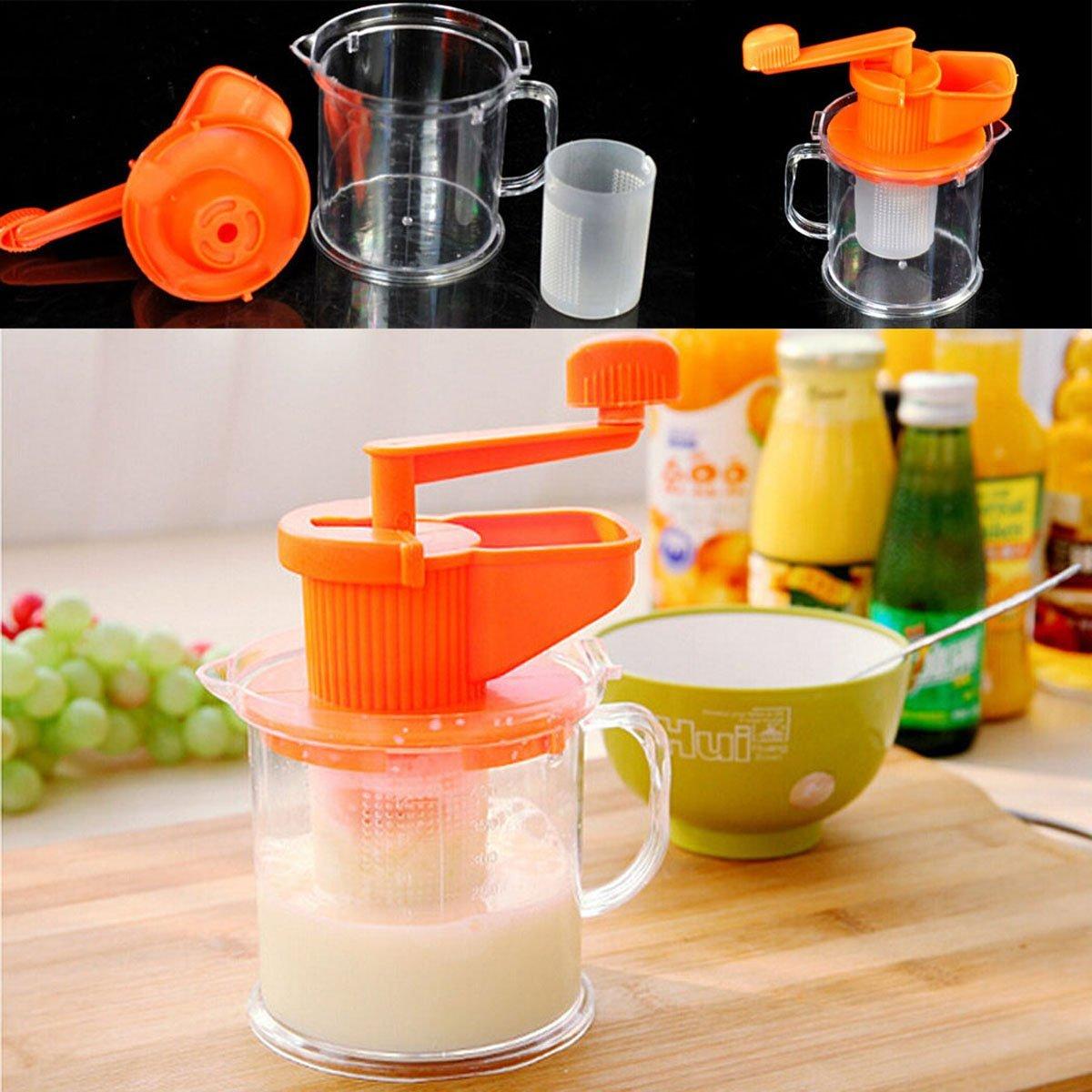 boutique1583 Kitchen Manual Soybean Milk Maker Fruit Juicer Extractor