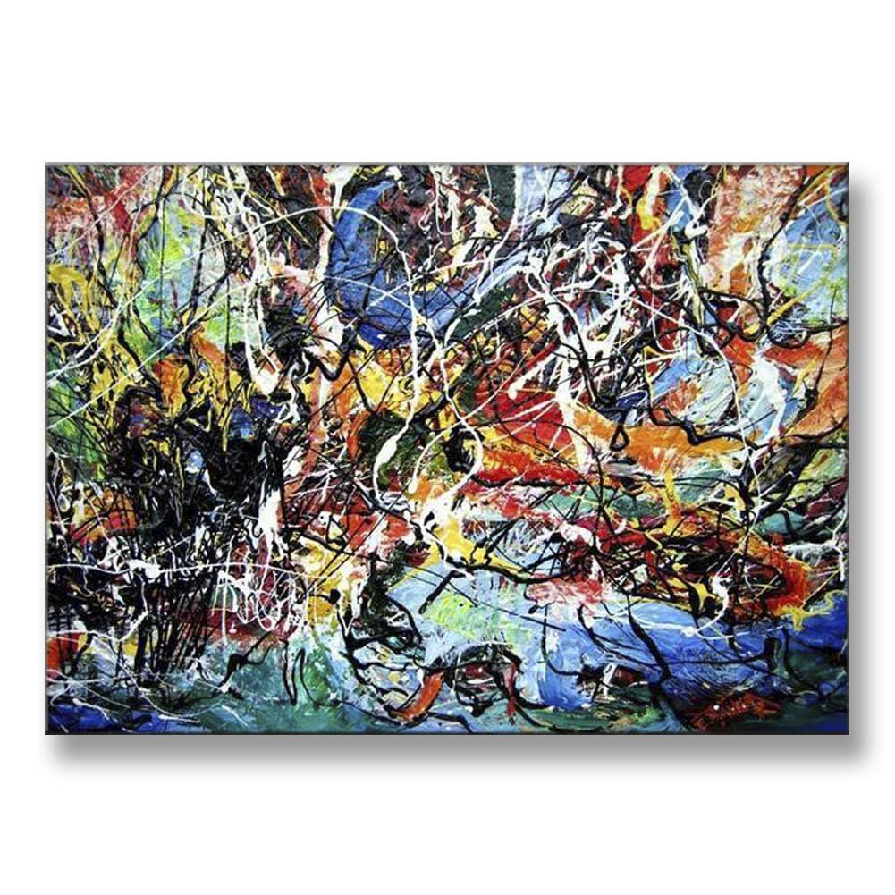 Hand Painted Canvas Paintings Abstract Unframed Tablet 48X34 inch (122X86 cm) for Living Room Bedroom Dining Room Wall Decor To DIY Frame Home Decoration by Neron Art