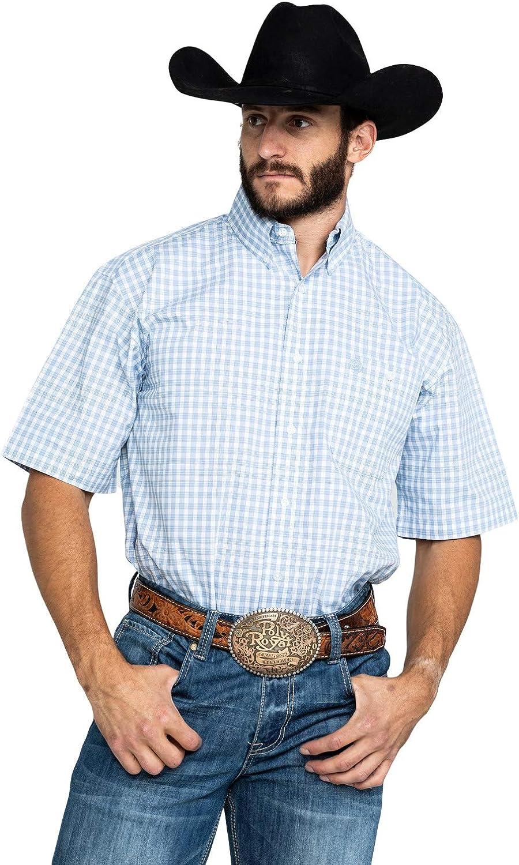 Wrangler Men/'s Big /& Tall George Strait Short Sleeve Button Shirt