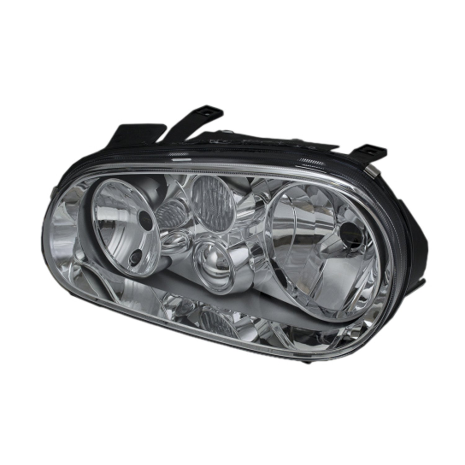 6 inch 2007 Dodge 3500-5500 CHASSIS CAB Inside Post mount spotlight Driver side WITH install kit LED -Chrome