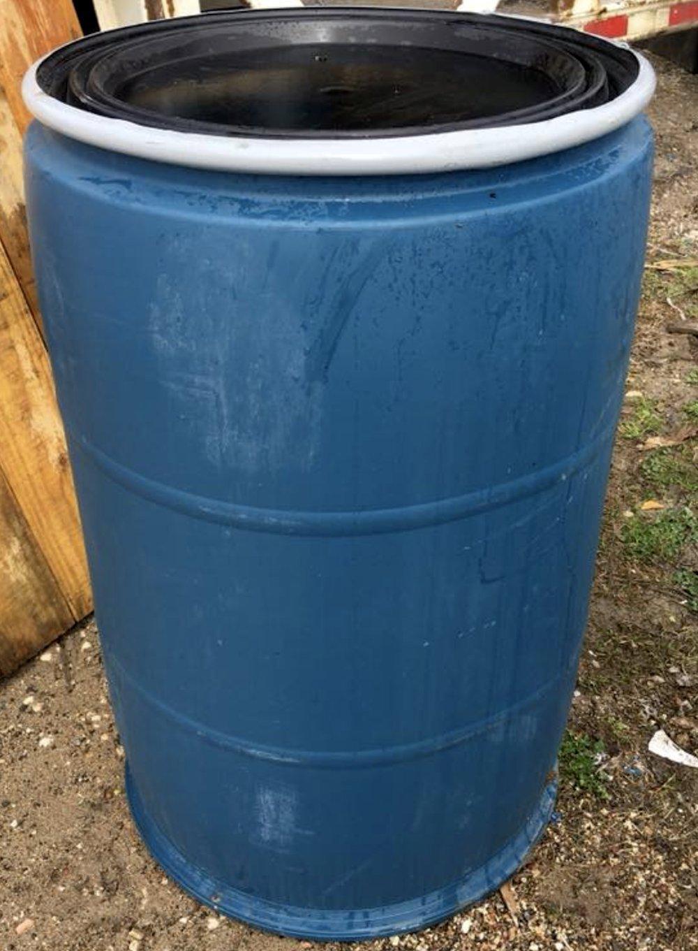 55 Gallon Drum Plastic Talcum Power Reconditioned Used Open-head