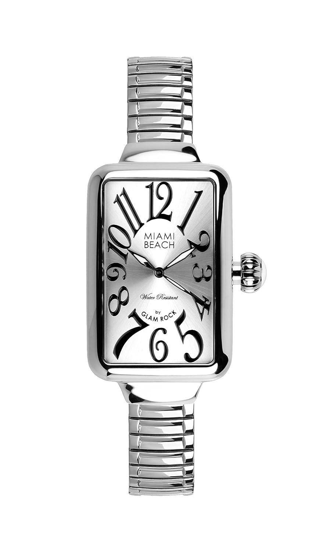 Glam Rock Women'Art Deco Collection Herren-Armbanduhr 1725.1562 Analog-Anzeige und Silber-Edelstahl-Armband 0.96.3002