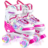 AILUKI Rolschaatsen voor kinderen, rolschaatsen voor beginners, in grootte verstelbaar (maat 31-38), comfortabel en…