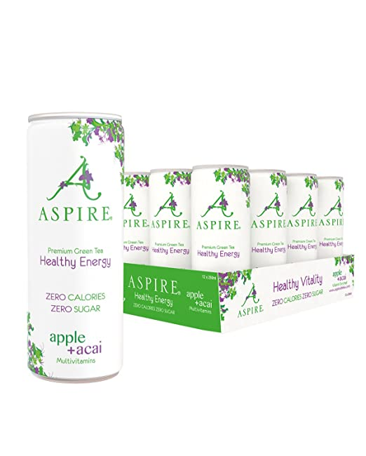 ASPIRE Manzana y Acai Bebida Energética Saludable (12x250ml) - Apple & Acai Healthy Energy