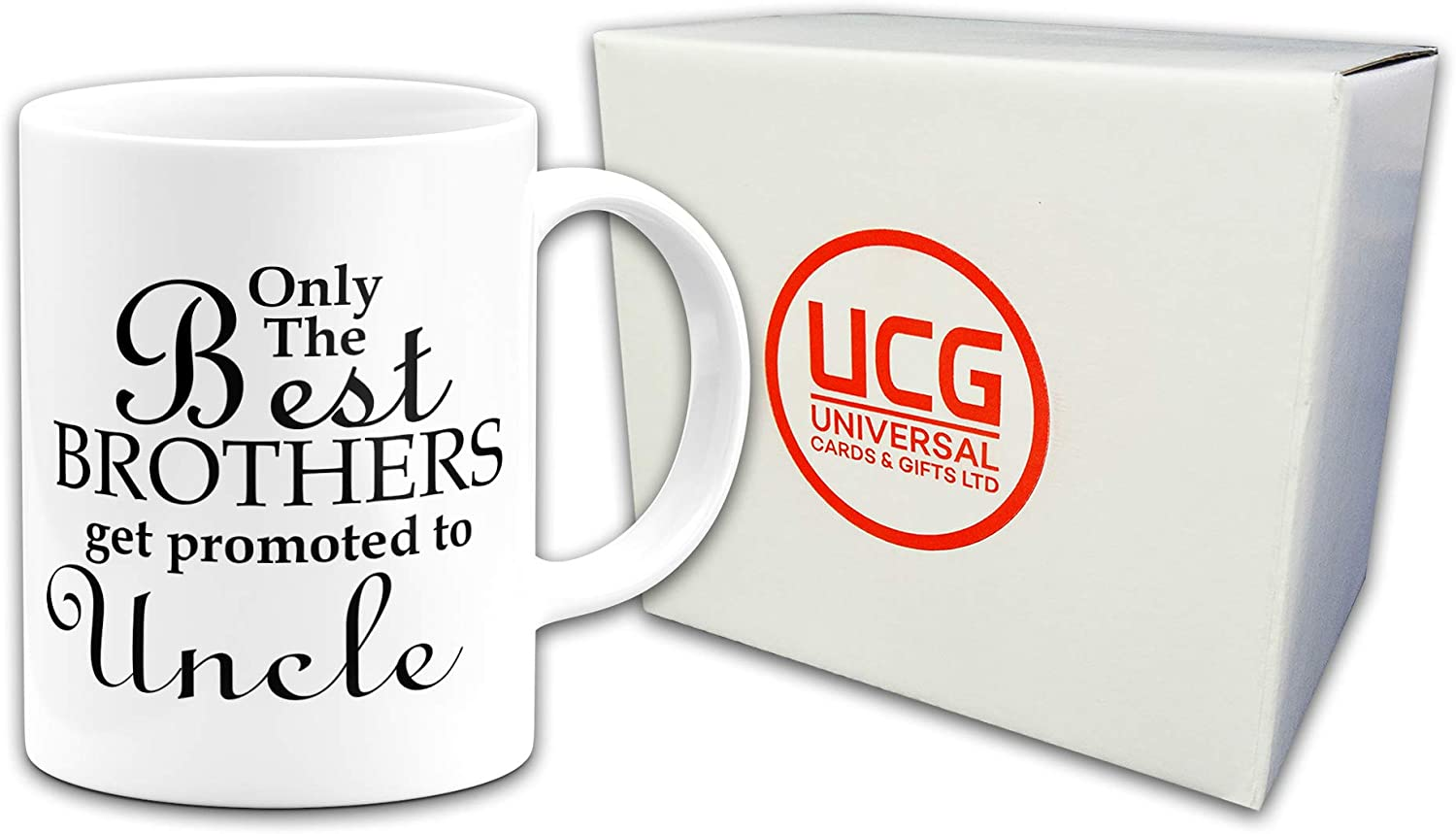 Mug and Coaster by Inky Penguin Only the Best Brothers Get Promoted to Uncle
