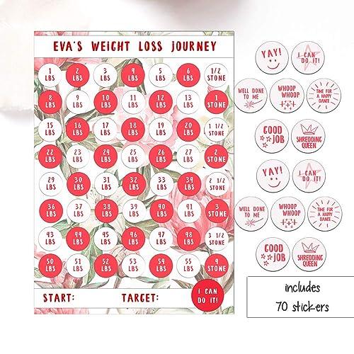 Weight Loss Chart, 1-4 Stone laminated sheet with stickers, Diet Reward  Chart, Weight loss motivation, Slimming World, Weight Watchers, Flowers