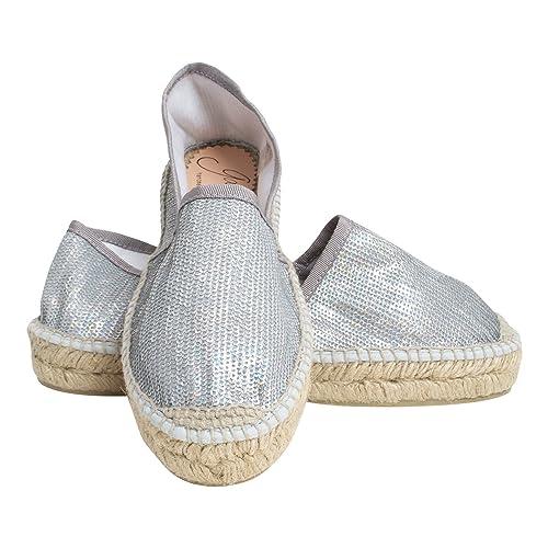 Gaimo - Alpargata Mujer , color Plateado, talla 42 EU: Amazon.es: Zapatos y complementos