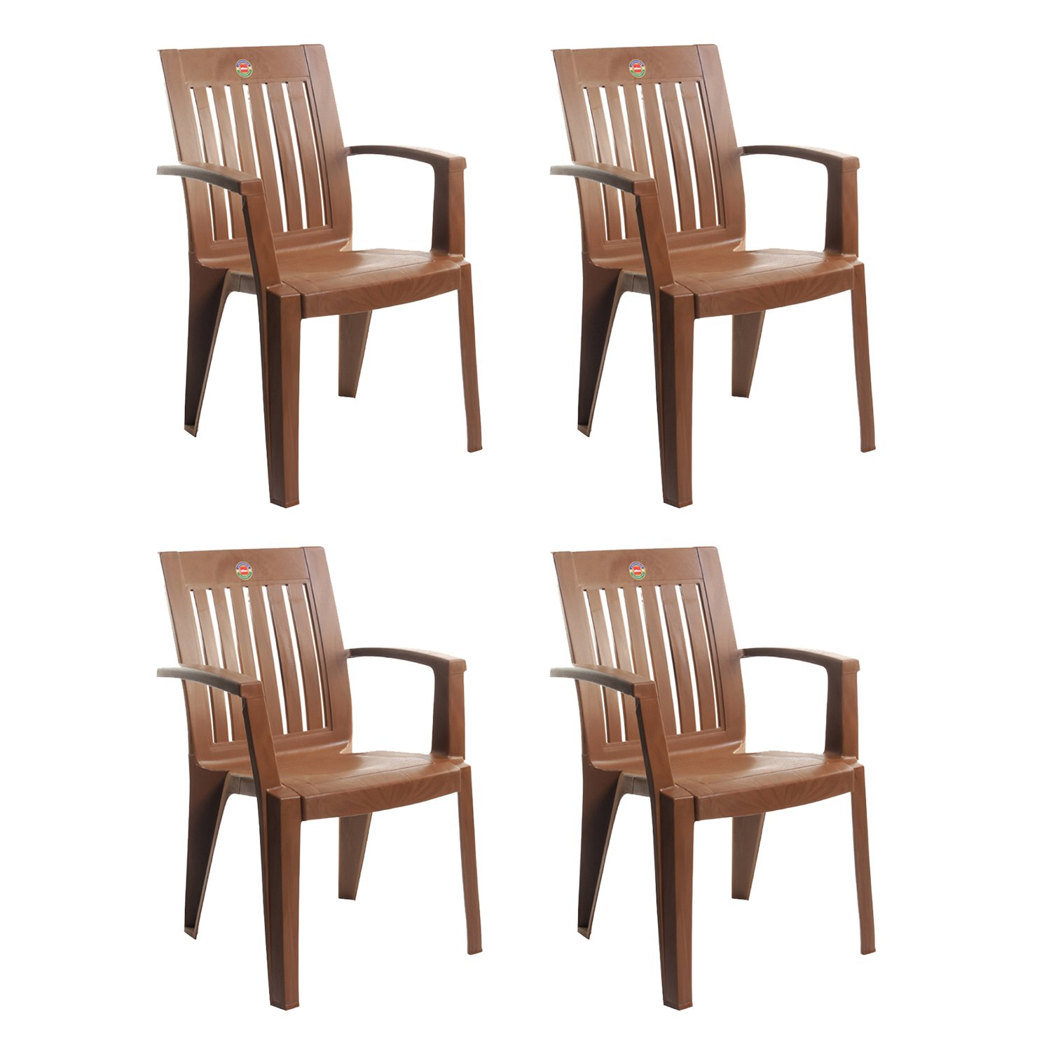 Fine Cello Prominent Set Of 4 Chairs Ice Brown Amazon In Home Cjindustries Chair Design For Home Cjindustriesco