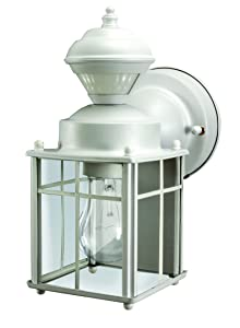 Heathco HZ-4132-MW White Bayside Mission Style Motion Activated Lantern