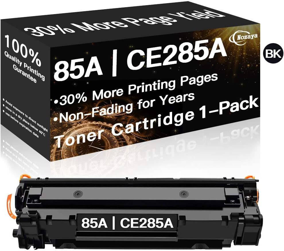 Nozaya Compatible Toner Cartridge Replacement for HP CE285A 85A (Black, 1-Pack)
