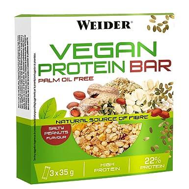 JOE WEIDER VICTORY Vegan Protein Bar Cacahuete salado 3 u ...