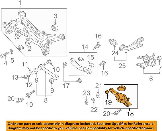 Control Arm Trailing Bushing Rear Lower For HYUNDAI KIA Elantra 55215-2G000