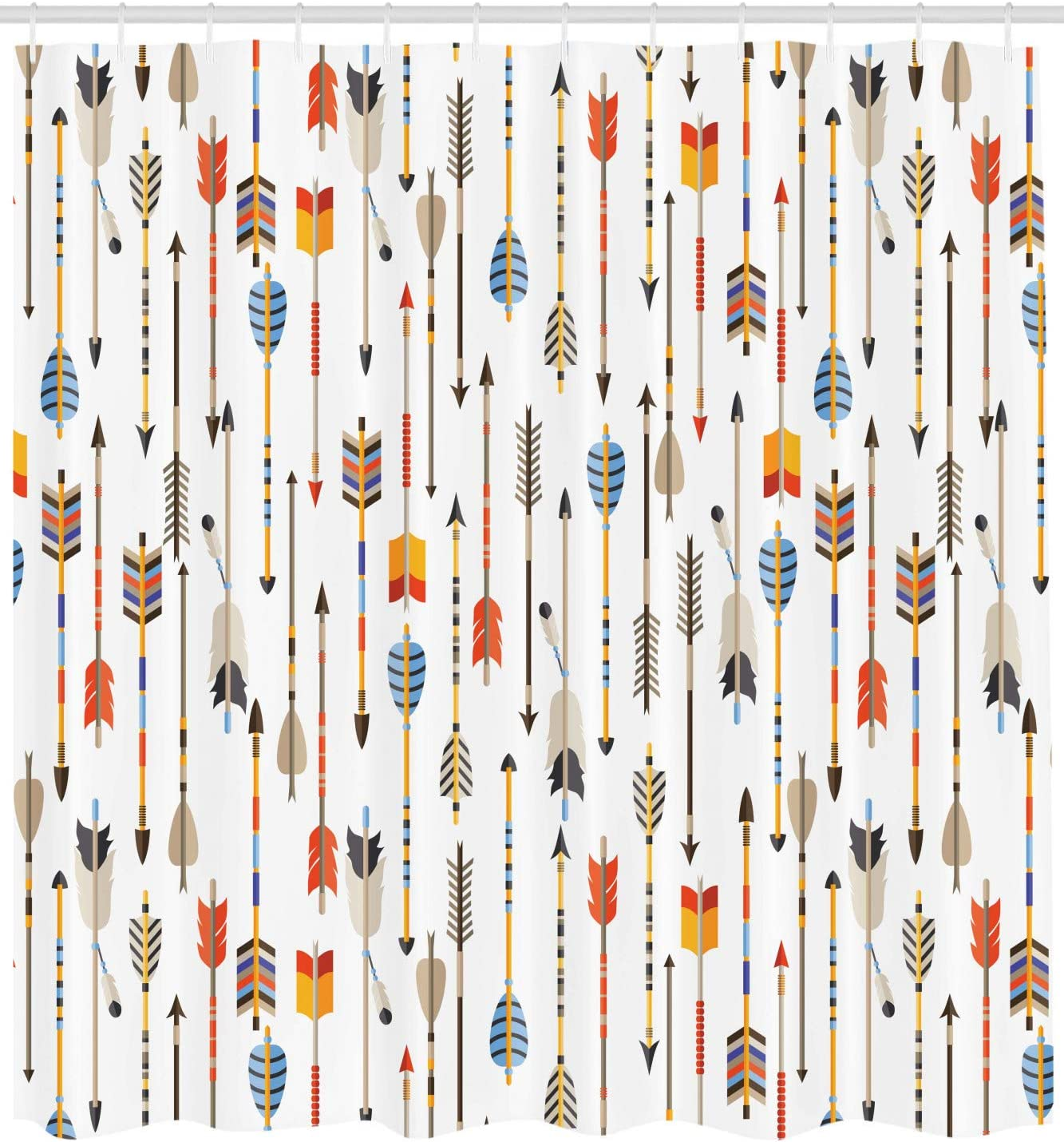 Ambesonne Arrow Decor Collection Traditional Tribal Tools Inspired Modern Illustration of Ethnic Authentic Original Arrows Art 84 Inches Extra Long Polyester Fabric Bathroom Shower Curtain Multi