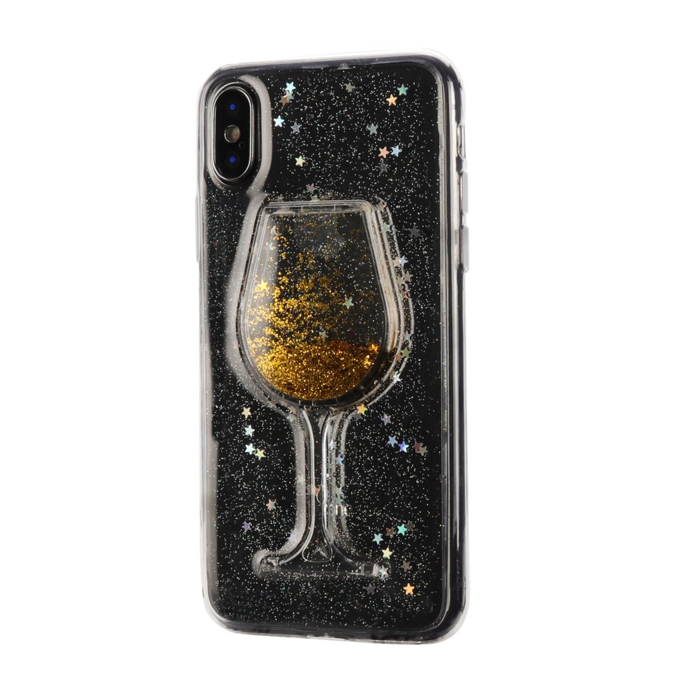 5.8 inch iPhone 10 Case Women, Cool Sparkle Shiny Case Slim Durable Soft Silicone Anti Slip Full-Body Protective Phone Case Cover iPhone X-Gold Jennyfly