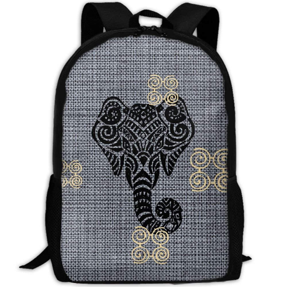 Elephant Double Shoulder Backpacks For Adults Traveling Bags Full Print Fashion by THIS STORE