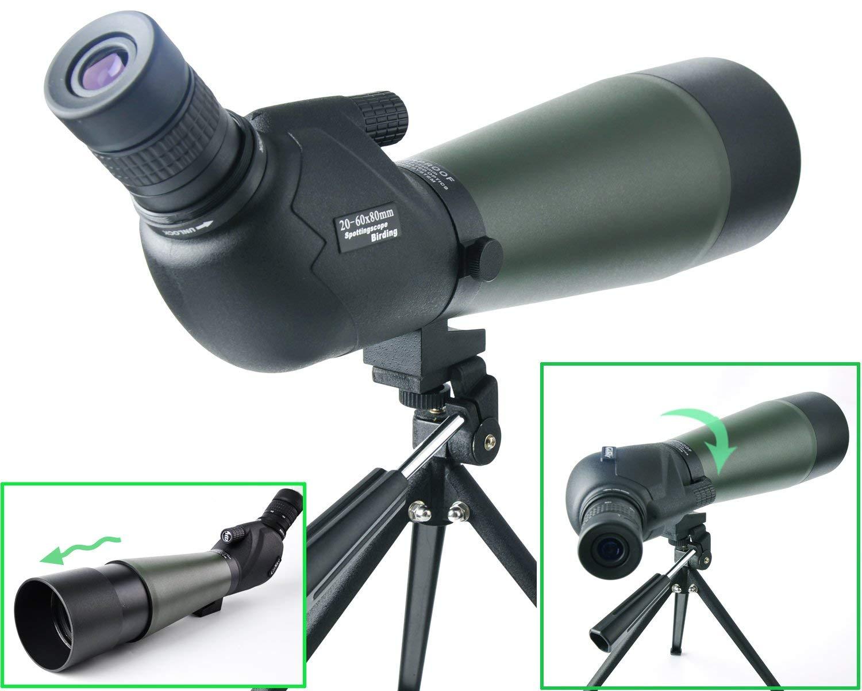 大きな割引 20-60X 80 80 & B07Q36BZWZ ポロプリズムスポッティングスコープ-バードウォッチングターゲット射撃のための防水スコープ撮影アーチェリー範囲屋外活動-三脚 & デジスコアダプター付き B07Q36BZWZ, オウミチョウ:6a2e1c43 --- berkultura.ru
