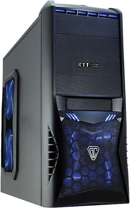 CiT 8818B Vantage Midi Mesh - Carcasa de PC (Audio HD, 4 ...