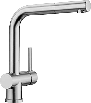 Top Blanco Lomis-S, Einhandmischer mit ausziehbarer Schlauch-Brause UT58