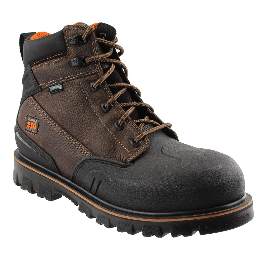 Timberland PRO Men's 6 inch Rigmaster XT Steel Toe Waterproof Work Boot, Brown Tumbled Leather, 9 M US
