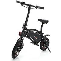 ROLLGAN Elektrofahrrad 12 Zoll Faltbares E-Bike Roller mit App Geschwindigkeitseinstellung,E-Faltrad,36V 350W Heckmotor,mechanische Scheibenbremsen,Schnelle Aufladung,Schwarz
