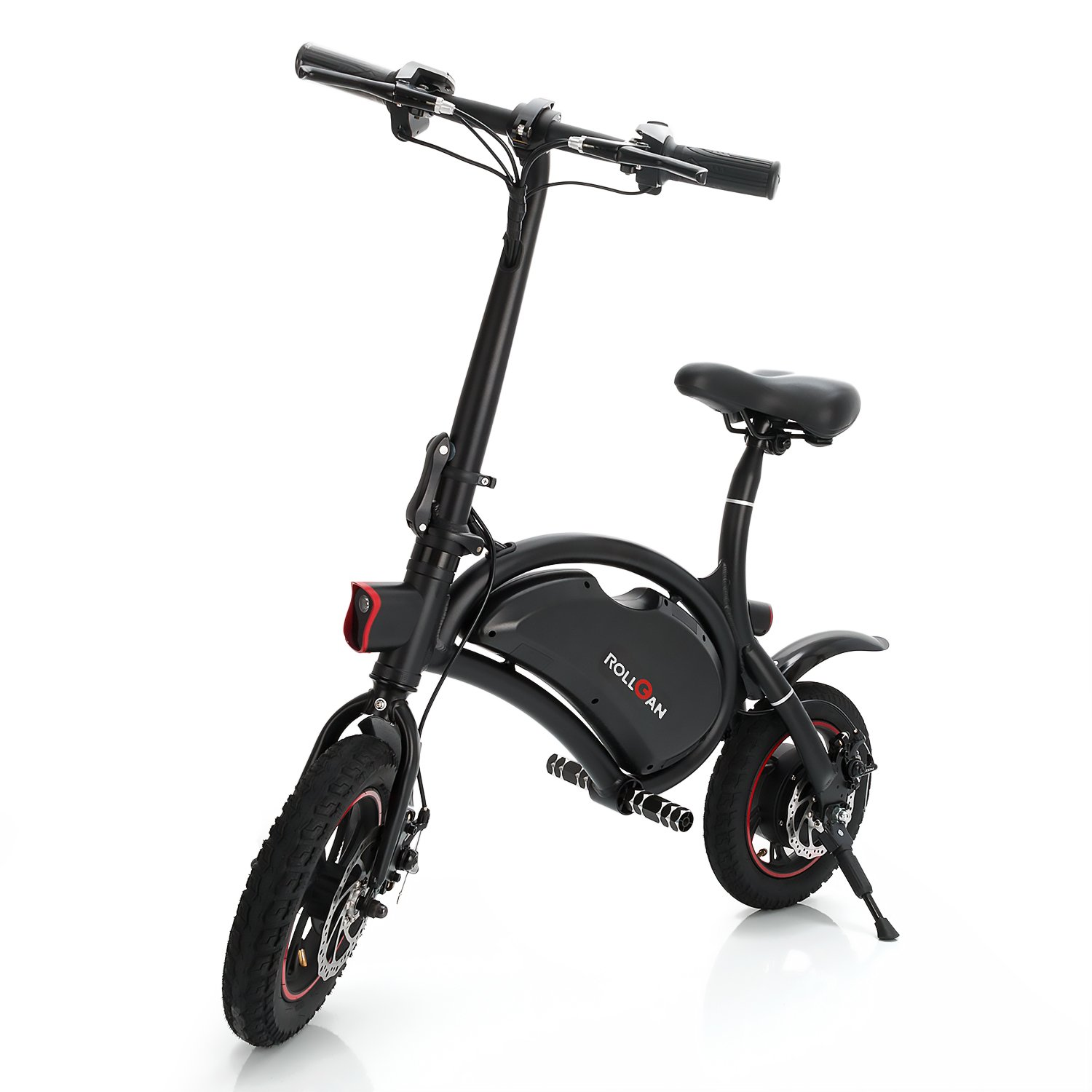 ROLLGAN Dolphin Electric Bike/Bicycle/Scooter with UL2272 12 inch Folding Body E-Bike with 12 Mile Range,Collapsible Frame,APP Support,36V 350W Rear Engine,Dual Mechanical Disc Brakes by ROLLGAN