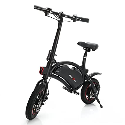 a9fc61f72a5 ROLLGAN Dolphin Electric Bike 12 inch Folding Body E-Bike Scooter with 12  Mile Range