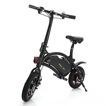Bicicleta eléctrica Dolphin Rollgan de 30,5 cm con cuerpo plegable, rango de 19