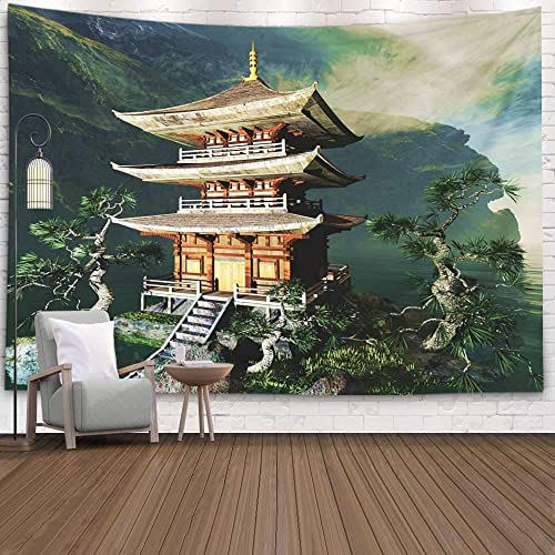 Jacrane Mountain Tapestry Wall Hanging,Lake Mountain Tapestry Dorm Wall Tapestry Pretty Tapestry 80X60 Inches Hanging Tapestry Wall Art Zen Mountains Decorations Bedroom Living Room Dorm